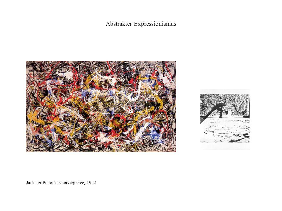 Abstrakter Expressionismus Jackson Pollock: Convergence, 1952