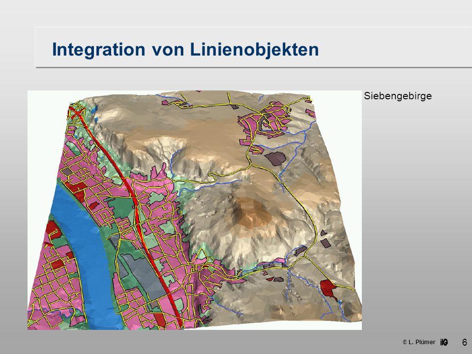 © L. Plümer 6 Integration von Linienobjekten Siebengebirge