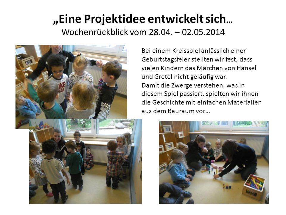 """""""Eine Projektidee entwickelt sich … Wochenrückblick vom 28.04."""