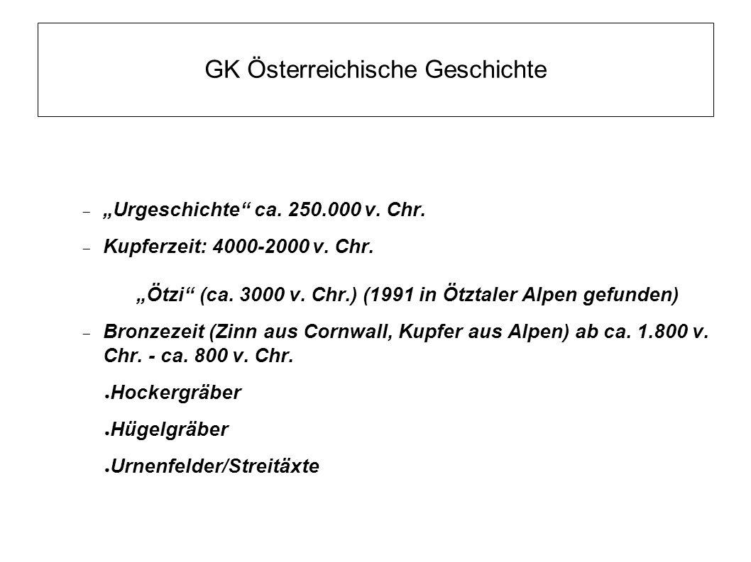 GK Österreichische Geschichte  Eisenzeit 800-0 v.
