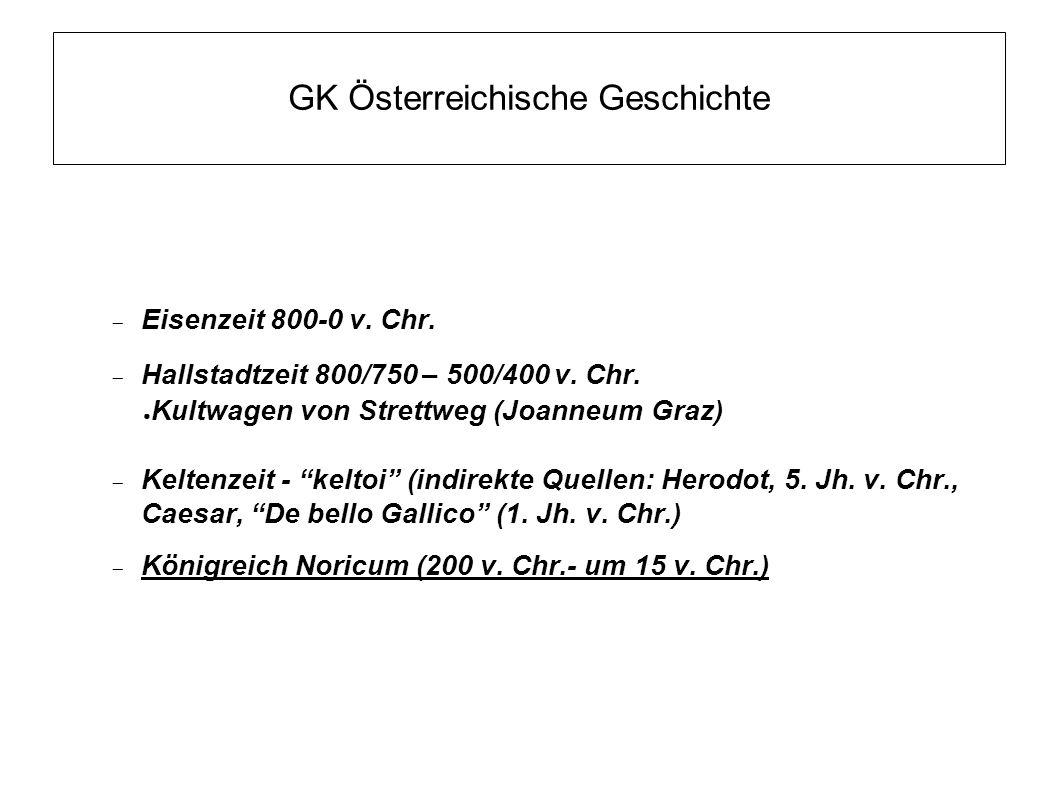 GK Österreichische Geschichte  Römische Zeit (Chr.