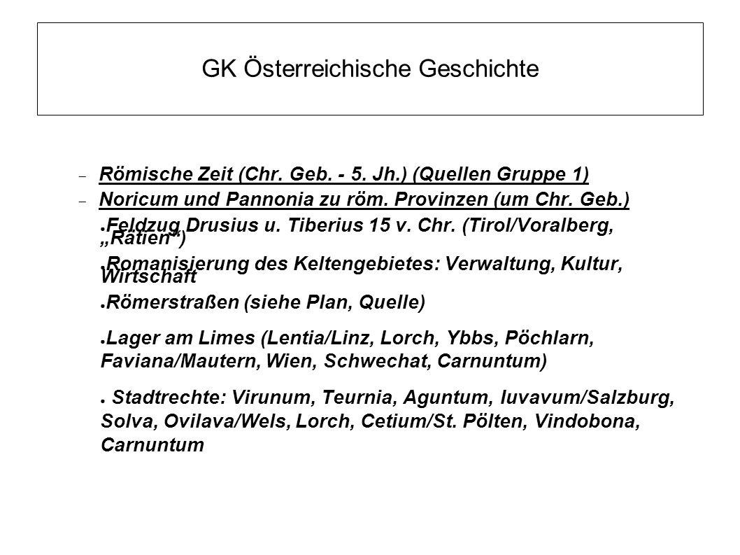 GK Österreichische Geschichte ● Völkerwanderungszeit (4.-6.