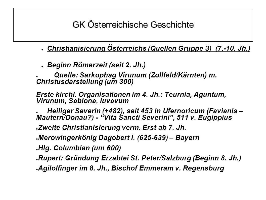 GK Österreichische Geschichte Eingliederung der bayerischen Marken in das Frankenreich (8.