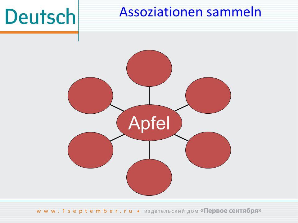 Assoziationen sammeln Apfel