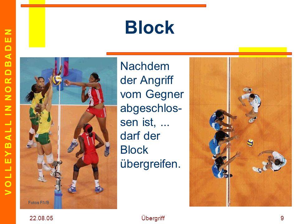 V O L L E Y B A L L I N N O R D B A D E N 22.08.05 Übergriff9 darf der Block übergreifen.