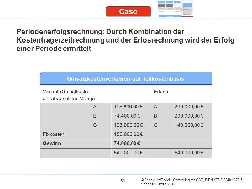 © Friedl/Hilz/Pedell: Controlling mit SAP, ISBN 978-3-8348-1679-5, Springer Vieweg 2012 Umsatzkostenverfahren auf Teilkostenbasis 59 Periodenerfolgsre