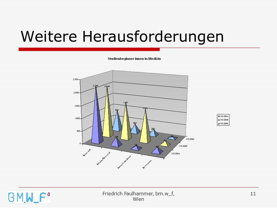 Friedrich Faulhammer, bm.w_f, Wien 11 Weitere Herausforderungen
