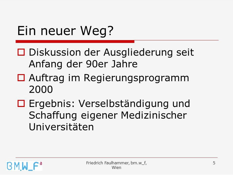 Friedrich Faulhammer, bm.w_f, Wien 5 Ein neuer Weg.