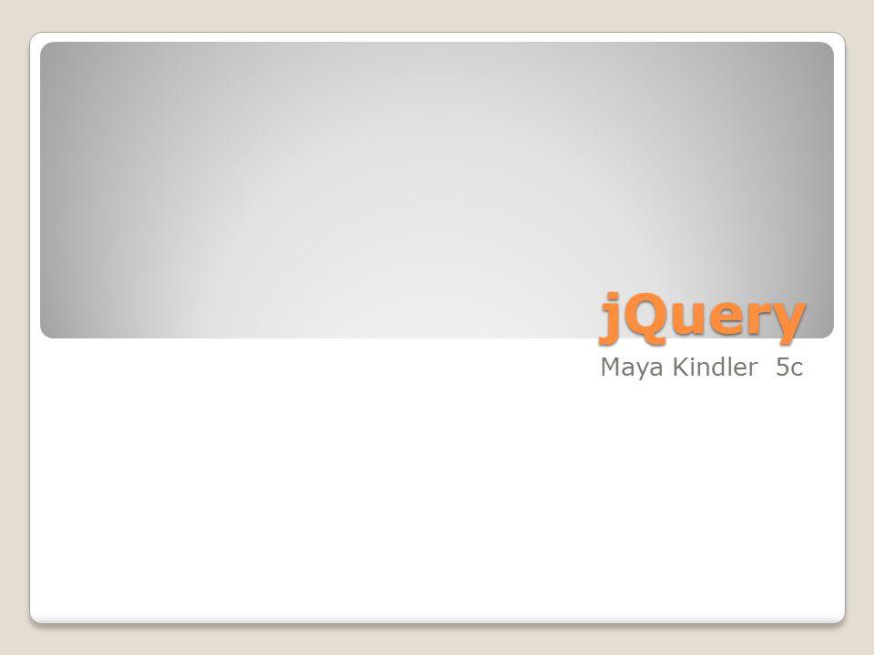 jQuery Maya Kindler 5c