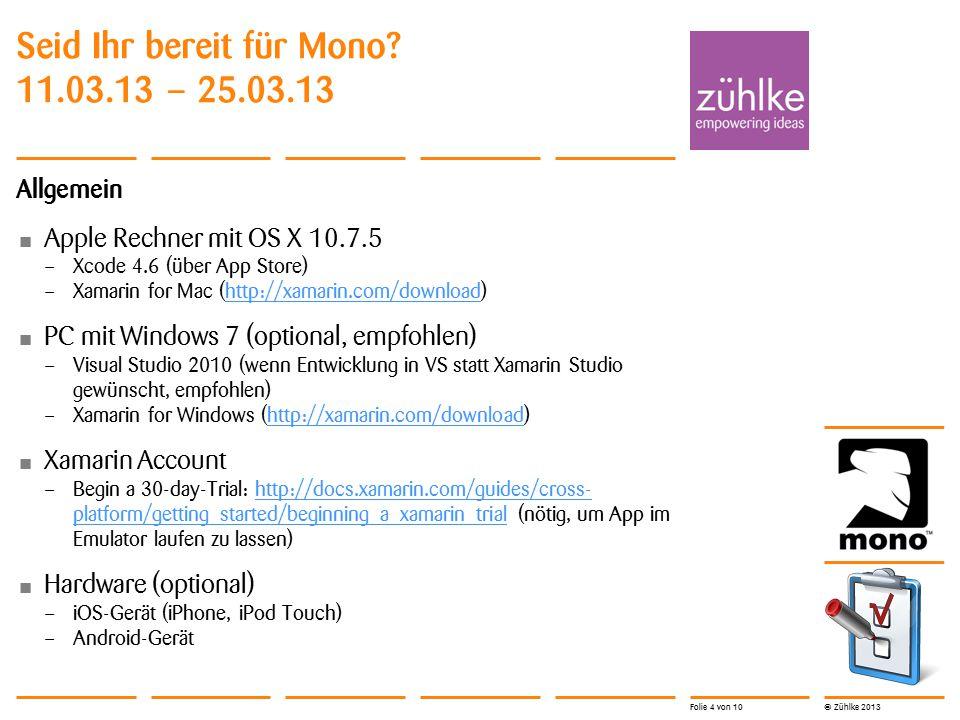 © Zühlke 2013 Lösung 25.