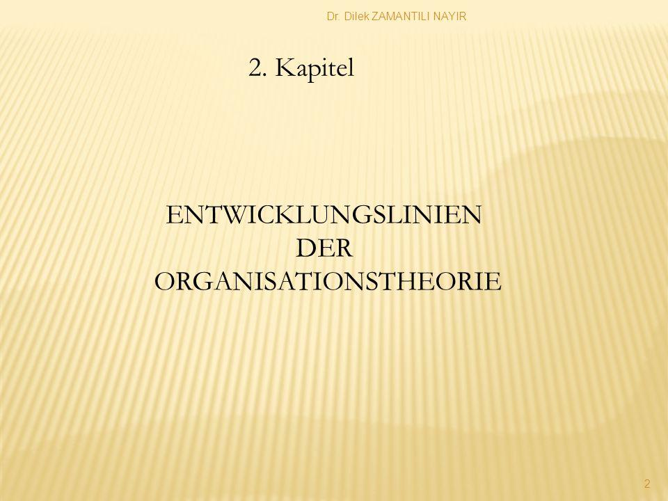 Dr.Dilek ZAMANTILI NAYIR 13 Die Anreiz-Beitragstheorie nach Barnard Chester I.