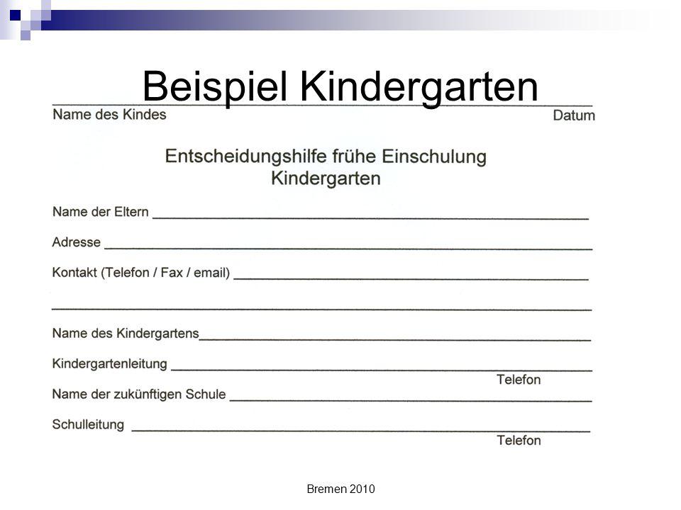 Bremen 2010 Beispiel Kindergarten