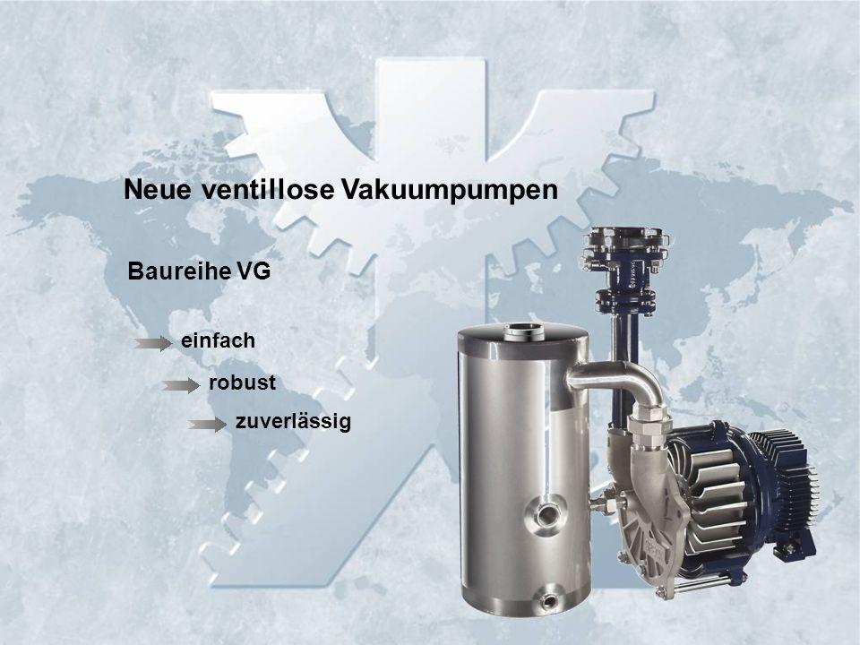 Neue ventillose Vakuumpumpen robust einfach zuverlässig Baureihe VG