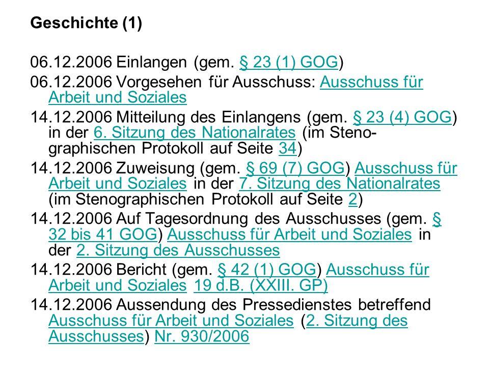 Geschichte (1) 06.12.2006 Einlangen (gem.