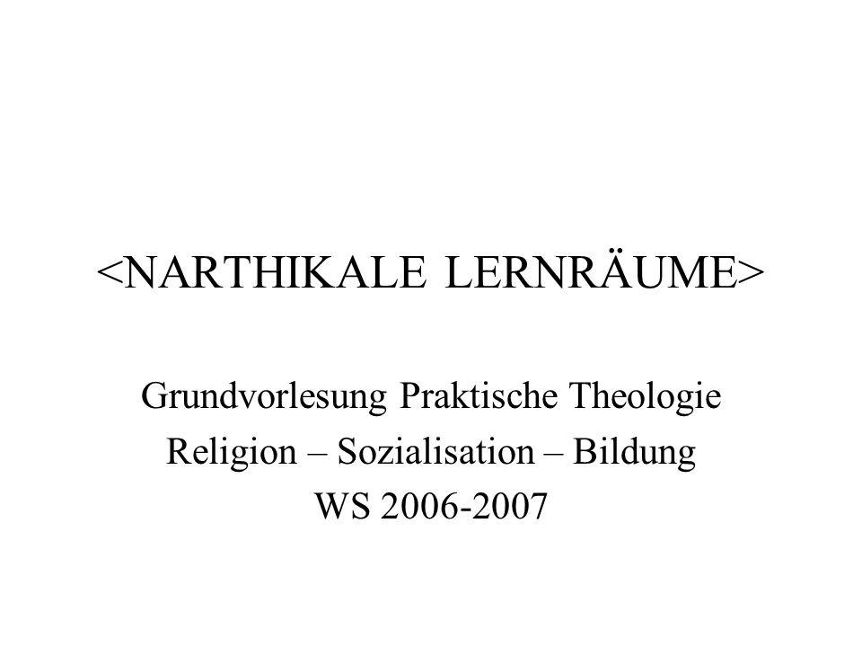 Übersicht 1.Definition und Beispiele aus der Archiktektur 2.Pädagogische Metaphorik: Narthex als Lernraum 3.Religionspädagogische Aneignung: Narthikales Lernen als Pilgerfahrt