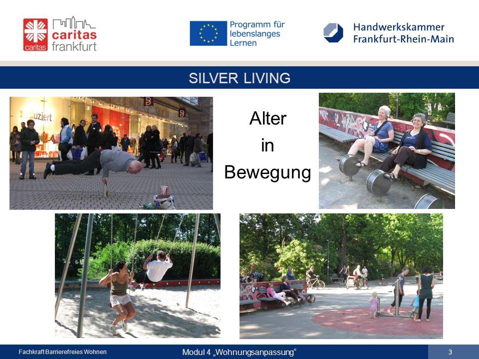 """SILVER LIVING Modul 4 """"Wohnungsanpassung Fachkraft Barrierefreies Wohnen Alter in Bewegung 3"""