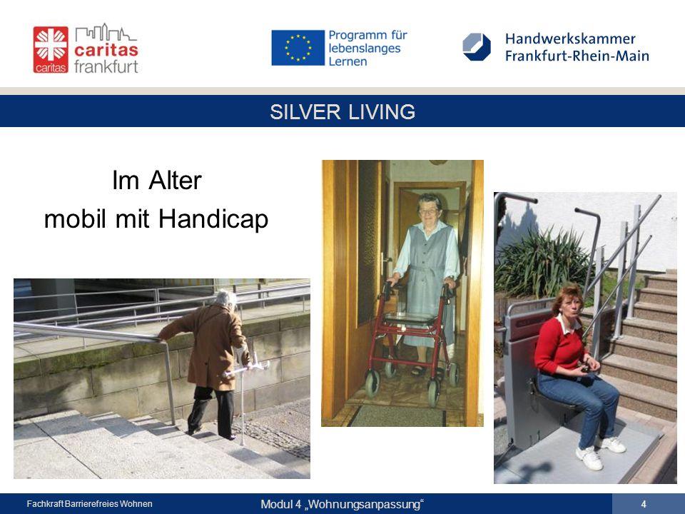 """SILVER LIVING Modul 4 """"Wohnungsanpassung Fachkraft Barrierefreies Wohnen Im Alter mobil mit Handicap 4"""
