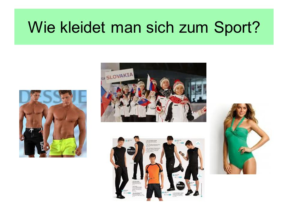 Wie kleidet man sich zum Sport?