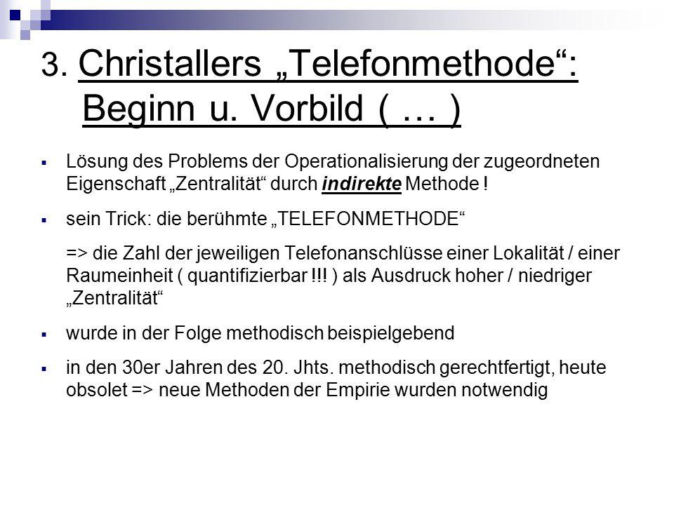 """3.Christallers """"Telefonmethode : Beginn u."""