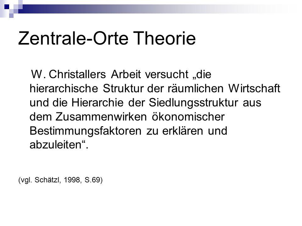 Zentrale-Orte Theorie W.