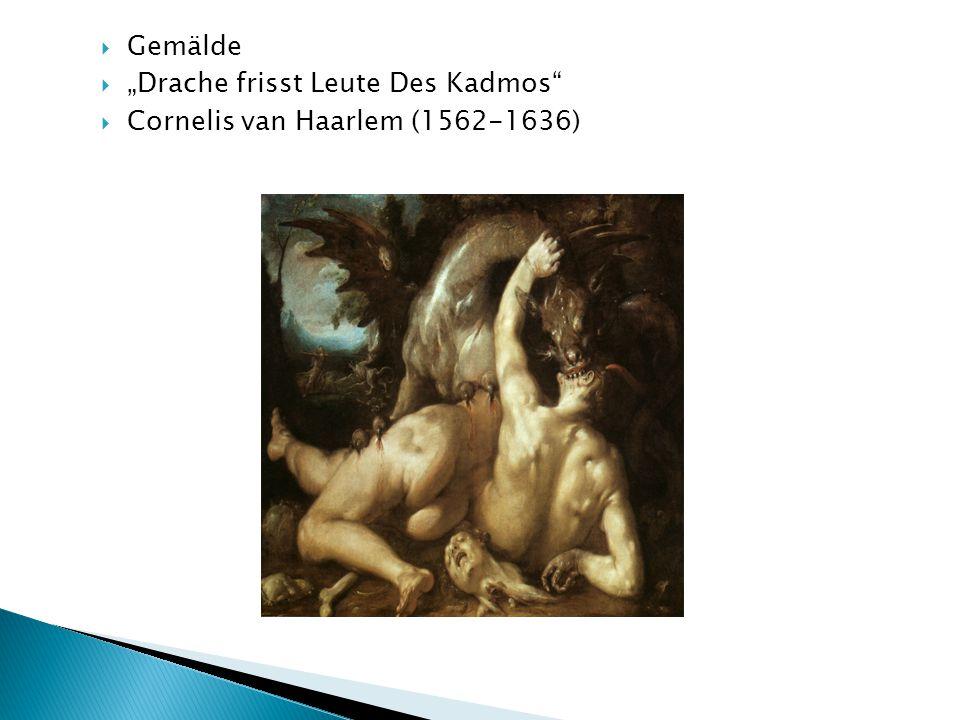 " Gemälde  ""Drache frisst Leute Des Kadmos  Cornelis van Haarlem (1562-1636)"