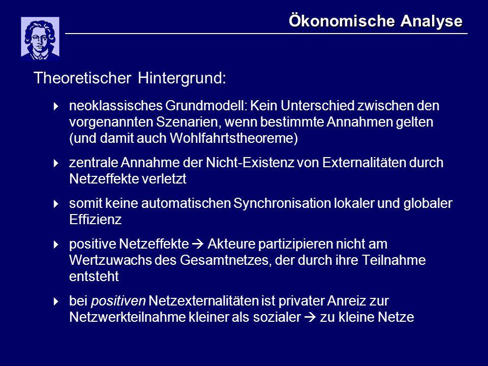 Ökonomische Analyse Theoretischer Hintergrund:  neoklassisches Grundmodell: Kein Unterschied zwischen den vorgenannten Szenarien, wenn bestimmte Anna