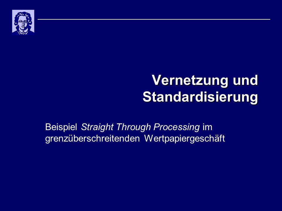 Vernetzung und Standardisierung Beispiel Straight Through Processing im grenzüberschreitenden Wertpapiergeschäft