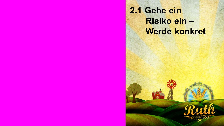 Seiteneinblender 2.1 Gehe ein Risiko ein – Werde konkret