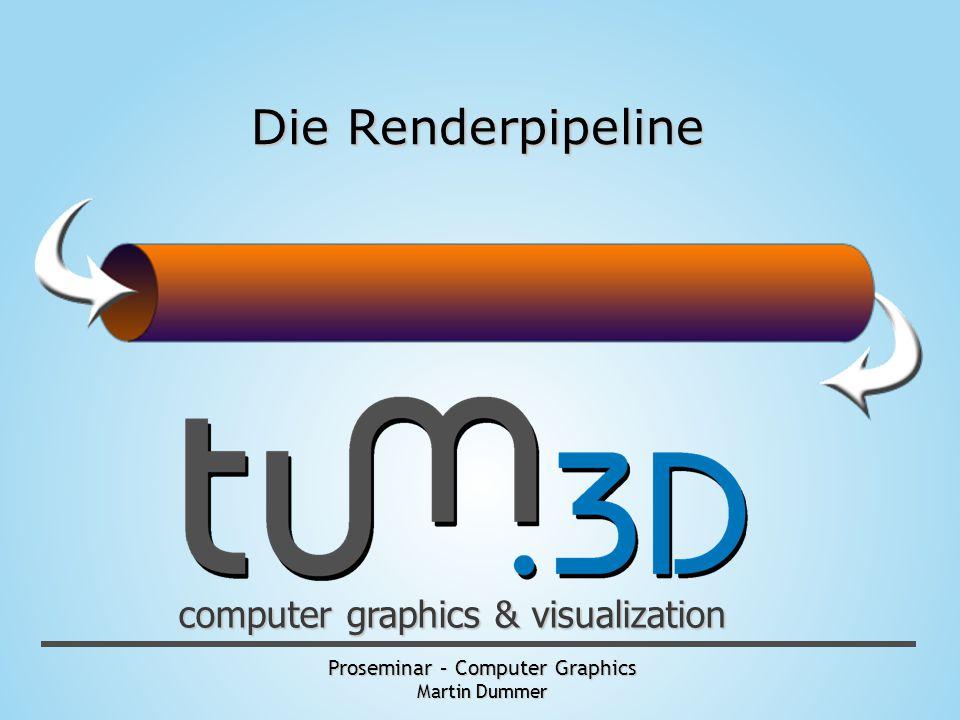 Proseminar – Computer Graphics Martin Dummer computer graphics & visualization Die Renderpipeline