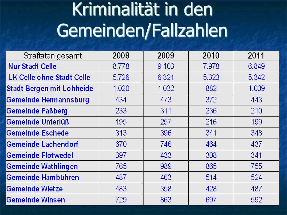 Kriminalität in den Gemeinden/Fallzahlen