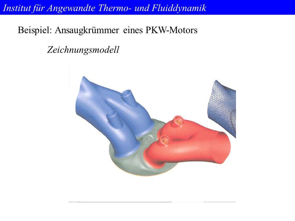 Institut für Angewandte Thermo- und Fluiddynamik Beispiel: Ansaugkrümmer eines PKW-Motors Zeichnungsmodell