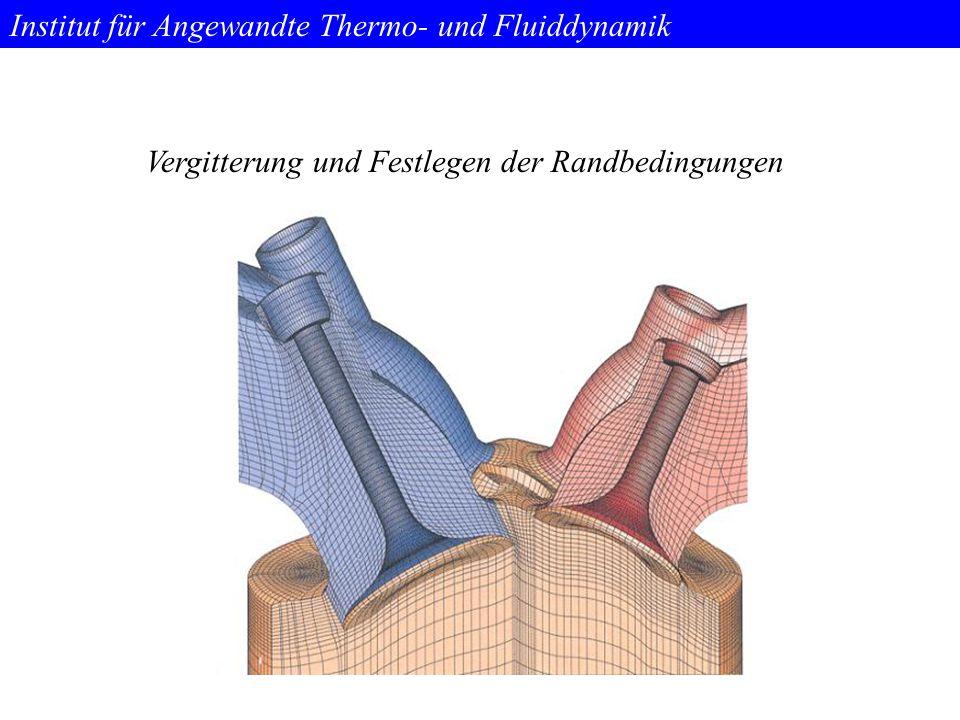 Institut für Angewandte Thermo- und Fluiddynamik Vergitterung und Festlegen der Randbedingungen