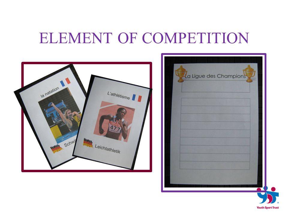 'Contre la montre' Relay races Pentathlon Medal ceremonies ' SPORTING' EVENTS WITHIN LESSONS