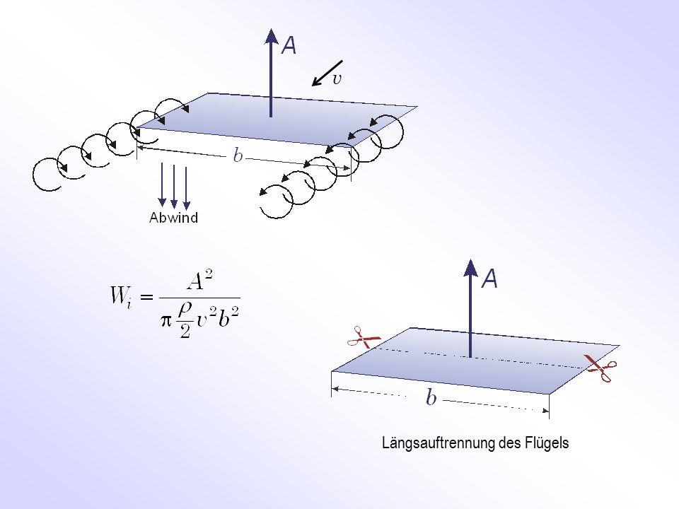Längsauftrennung des Flügels v