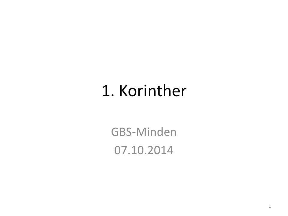 1. Korinther GBS-Minden 07.10.2014 1