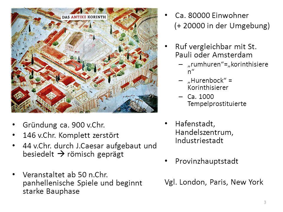 Gründung ca. 900 v.Chr. 146 v.Chr. Komplett zerstört 44 v.Chr. durch J.Caesar aufgebaut und besiedelt  römisch geprägt Veranstaltet ab 50 n.Chr. panh