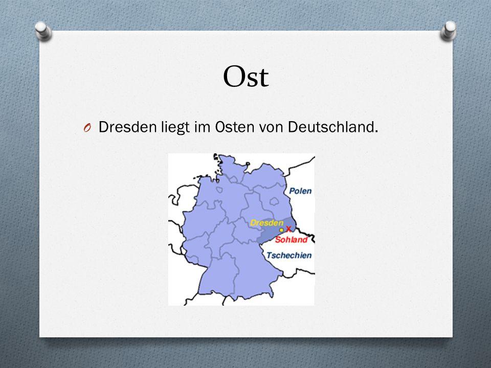 """Wir können auch sagen: O """"Nördlich von O """"Südlich von O """"Westlich von O """"Östlich von"""