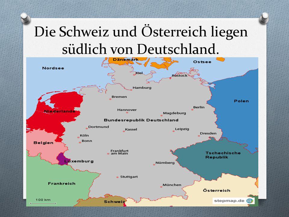 Belgien liegt westlich von Deutschland.