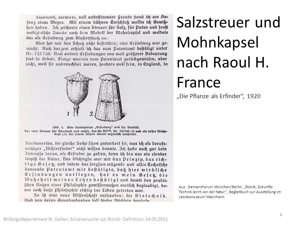 Salzstreuer und Mohnkapsel nach Raoul H.