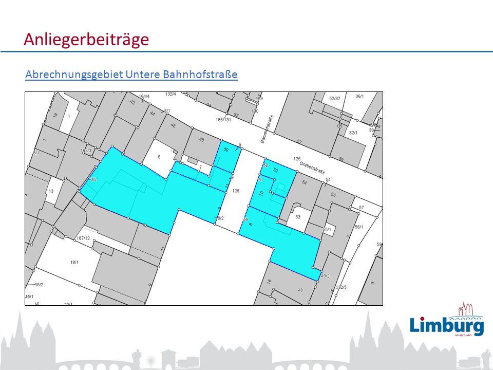 4 Anliegerbeiträge Abrechnungsgebiet Untere Bahnhofstraße