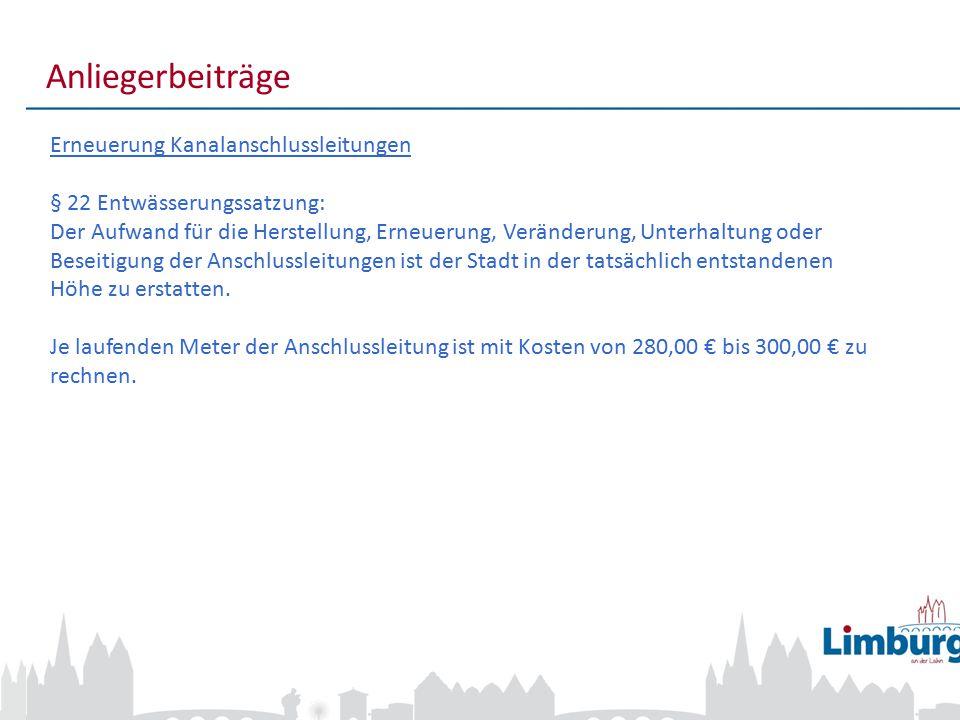7 Anliegerbeiträge Bei Fragen zu den Anliegerbeiträgen Anita Königstein Abteilungsleiterin Erschließungsbeiträge Tiefbauamt Werner-Senger-Straße 10 65549 Limburg a.