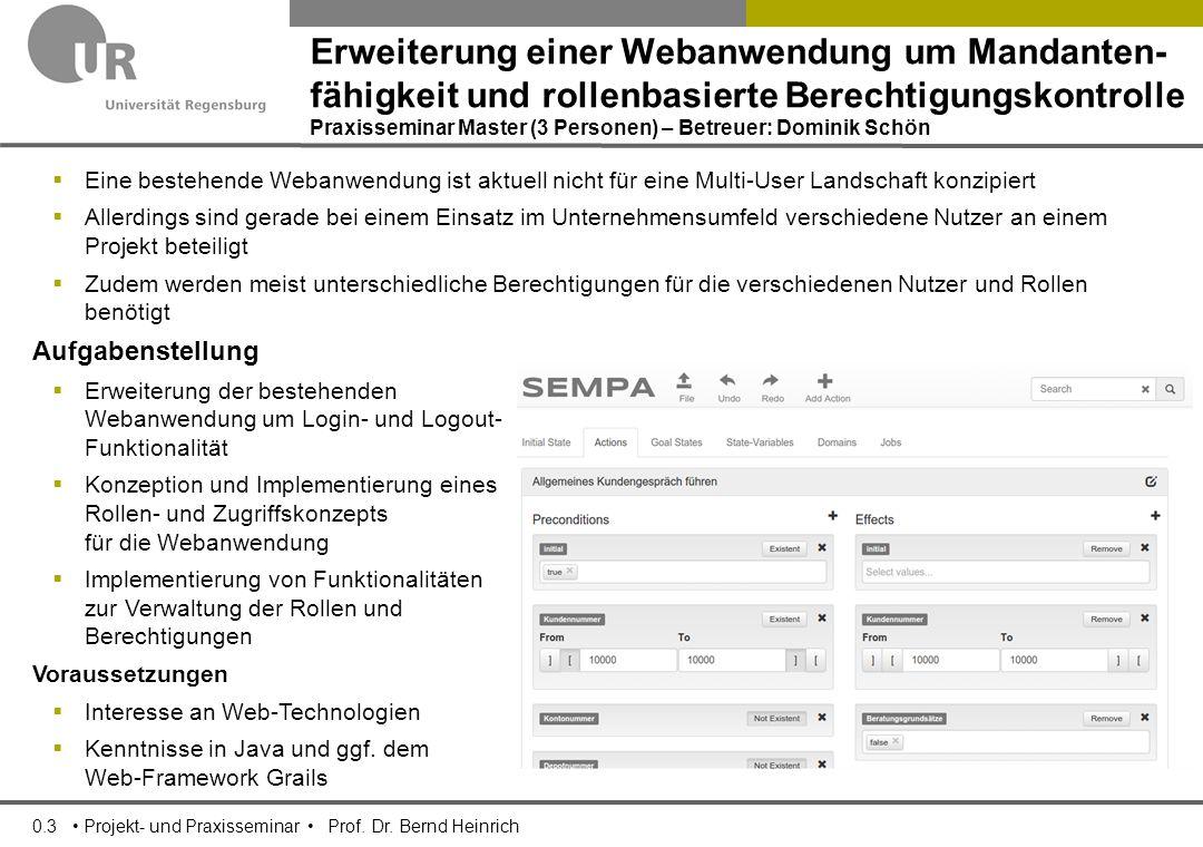 0.3 Projekt- und Praxisseminar Prof. Dr.