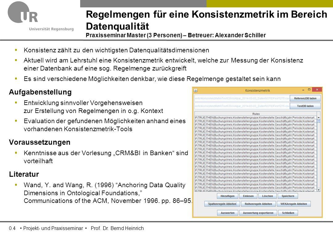 0.5 Projekt- und Praxisseminar Prof.Dr.