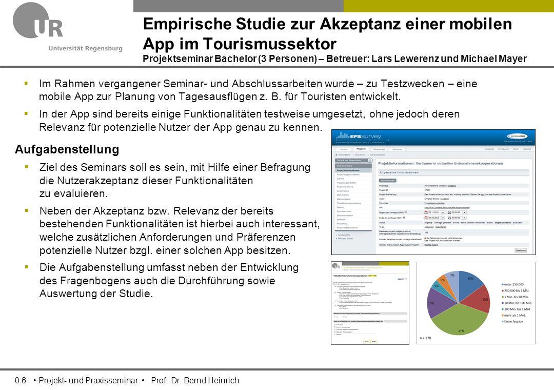 0.6 Projekt- und Praxisseminar Prof. Dr.