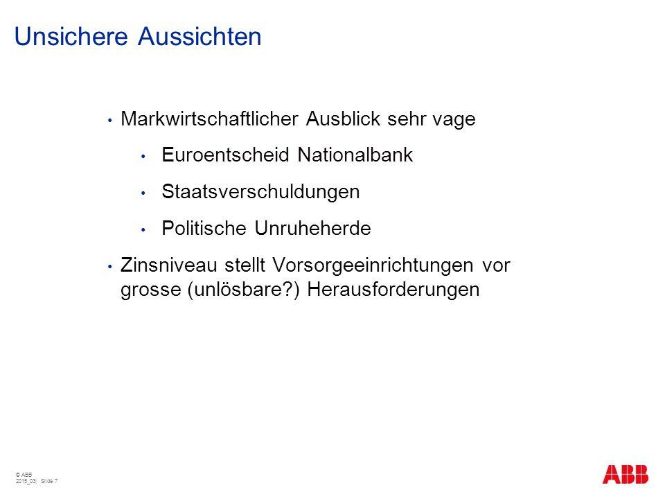 Unsichere Aussichten Markwirtschaftlicher Ausblick sehr vage Euroentscheid Nationalbank Staatsverschuldungen Politische Unruheherde Zinsniveau stellt