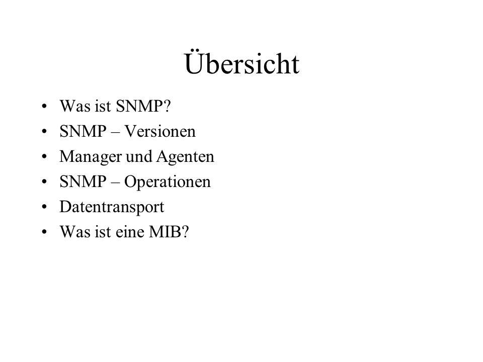Übersicht Was ist SNMP.