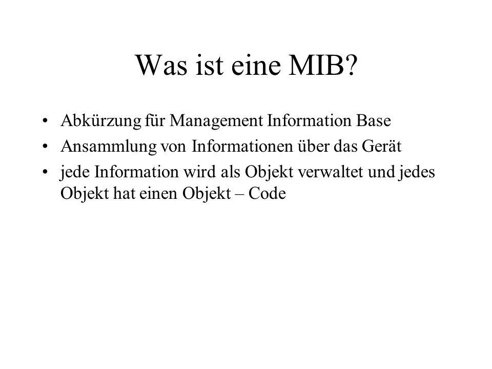 Was ist eine MIB.