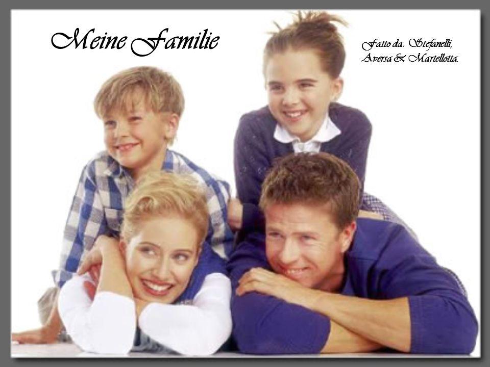 Meine Familie Fatto da: Stefanelli, Aversa & Martellotta.