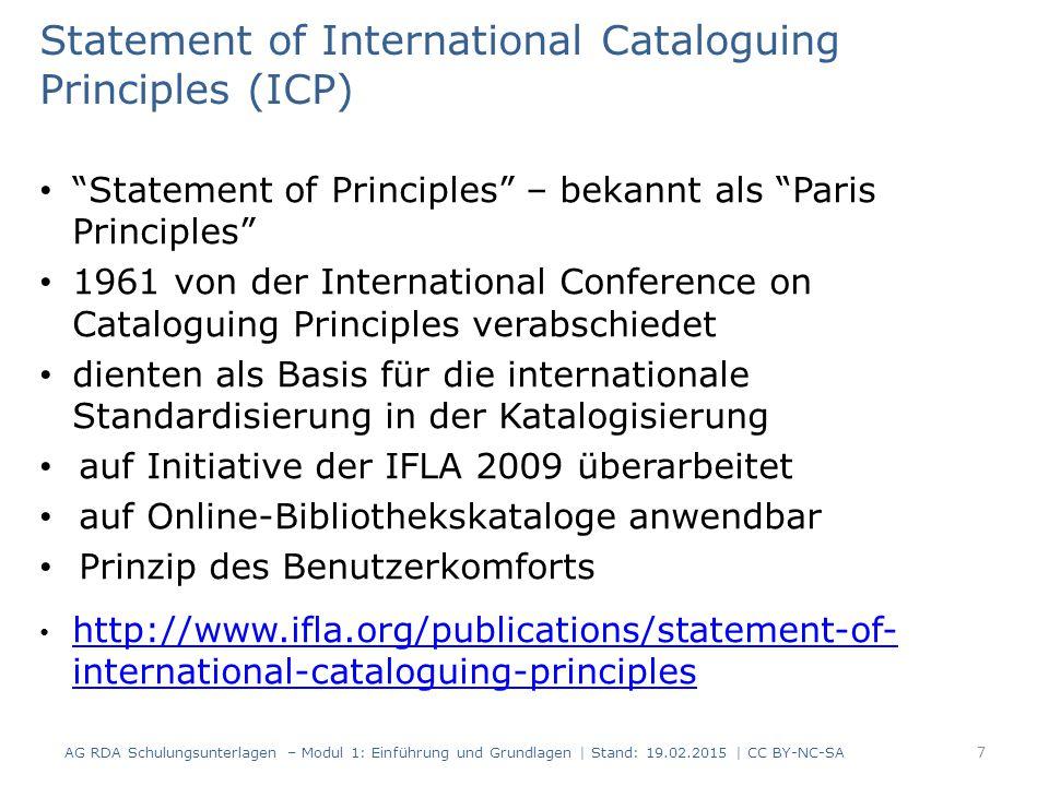 8 Statement of International Cataloguing Principles (ICP)