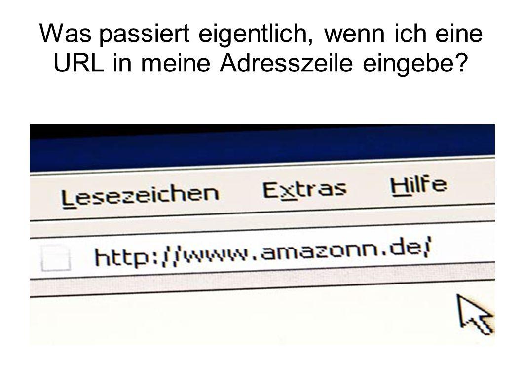 Was passiert eigentlich, wenn ich eine URL in meine Adresszeile eingebe?